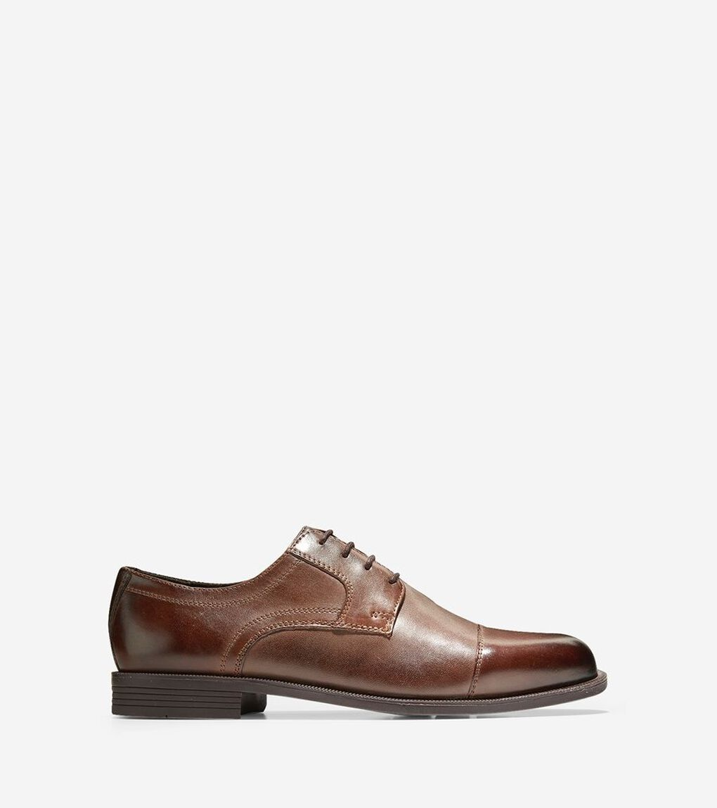 Cole Haan Men/'s Dustin Cap Toe Oxford Brown Style C24042