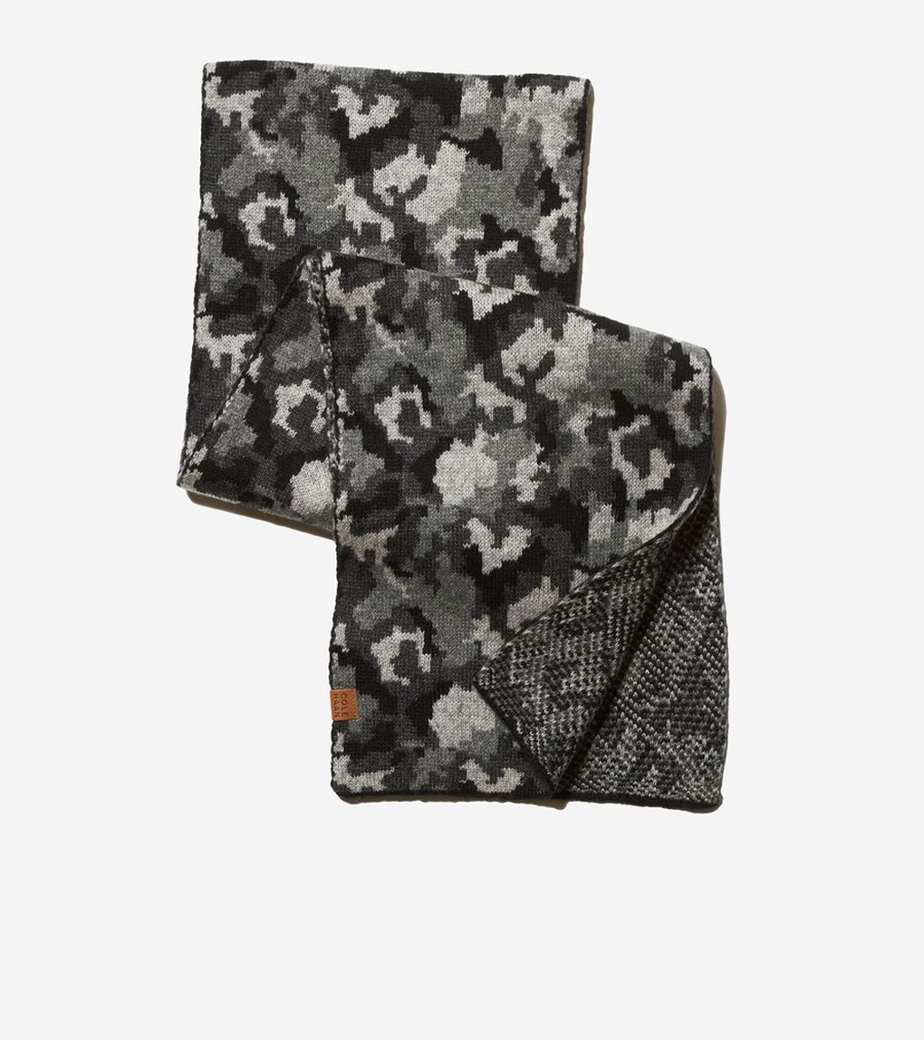 カモ ニット スカーフ mens