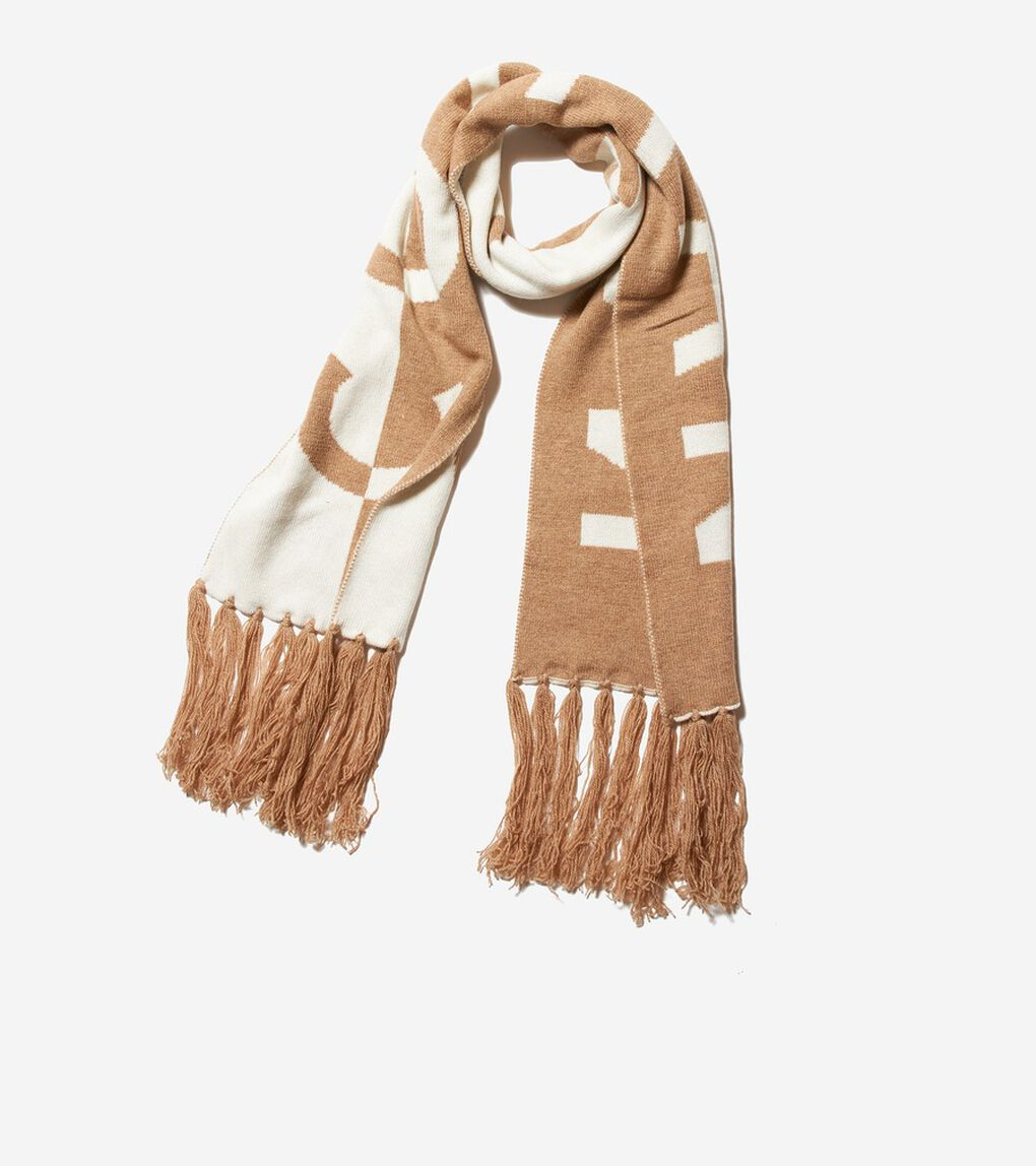 ニット ロゴ スカーフ womens