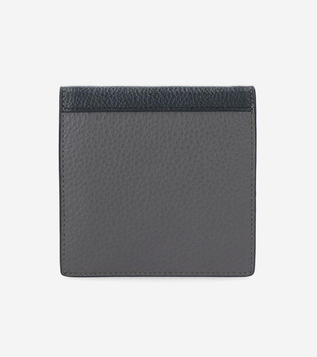 カラーブロック フォールテッド カード ケース mens