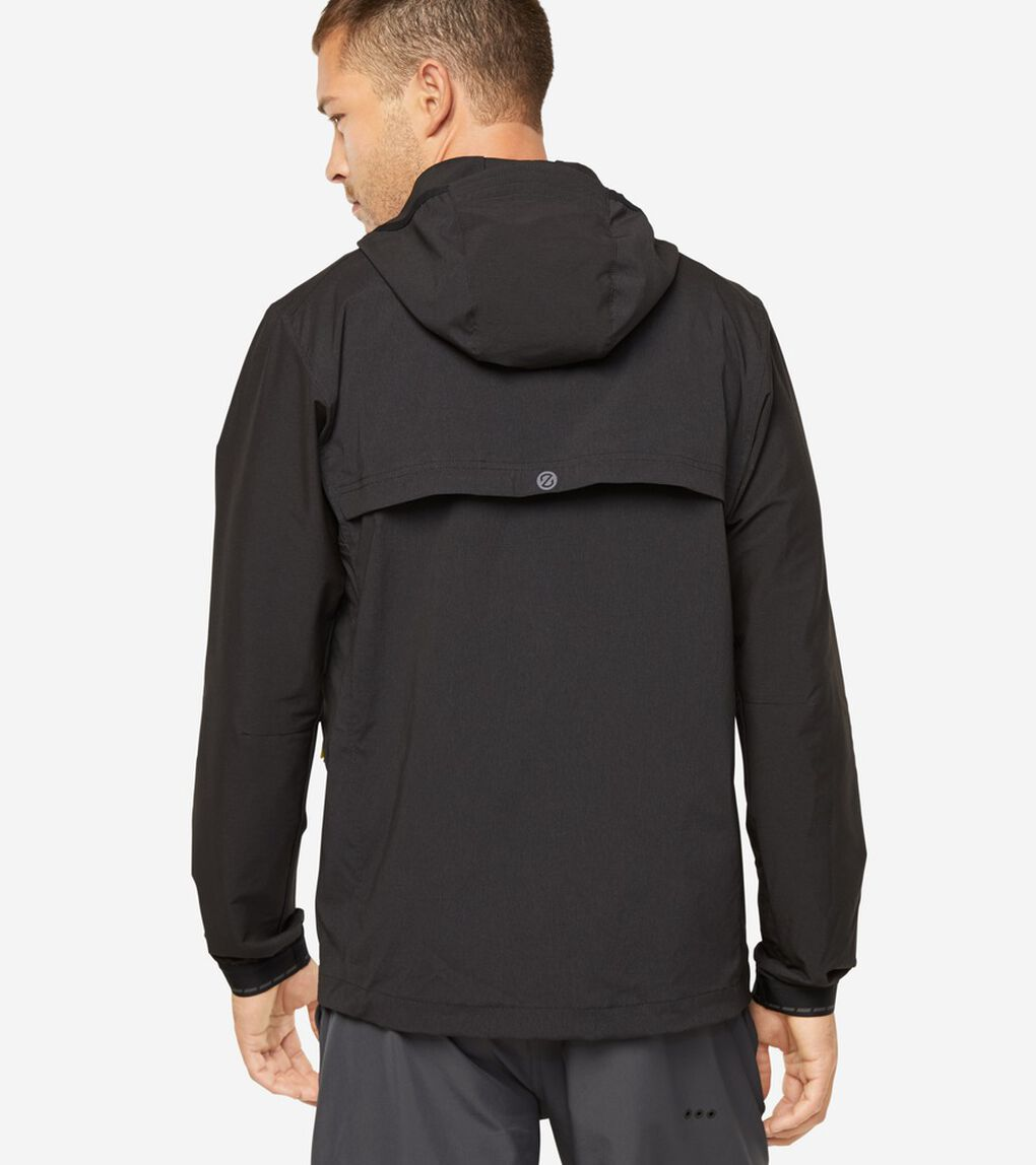 ゼログランド パッカブル ランニング ジャケット mens